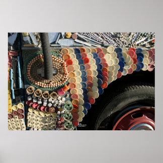 Fender, Art Car, Goldfield, Nevada Poster
