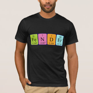 Fender periodic table name shirt