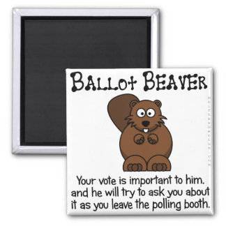 Fending off ballot chasers 2 inch square magnet