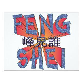 """Feng Shei Invitación 4.25"""" X 5.5"""""""