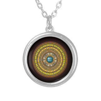 feng shui 1 round pendant necklace