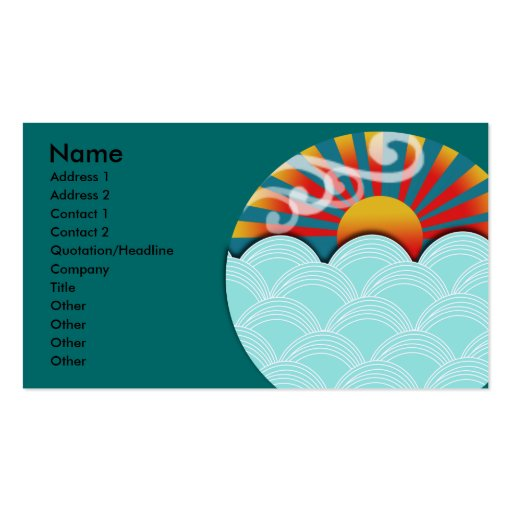 Feng shui business card zazzle for Feng shui business cards