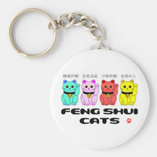 Feng shui cats-Beckoning cats Basic Round Button Keychain