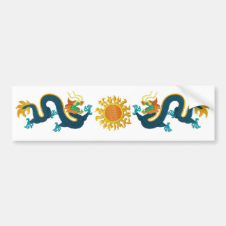 Feng Shui Chinese Dragons Bumper Sticker
