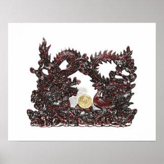 Feng Shui Dragon & Phoenix Print