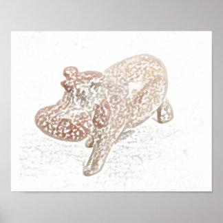 Feng Shui Hippo Print