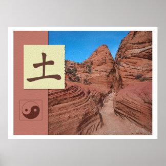 Feng Shui: Imágenes de Bagua: Paisaje de la tierra Póster