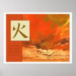 Feng Shui: Imágenes de Bagua: Paisaje del fuego Póster
