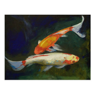 Feng Shui Koi Fish Postcard