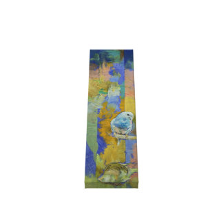 Feng Shui Parakeets Painting Canvas Print
