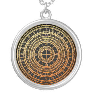 Feng shui round pendant necklace