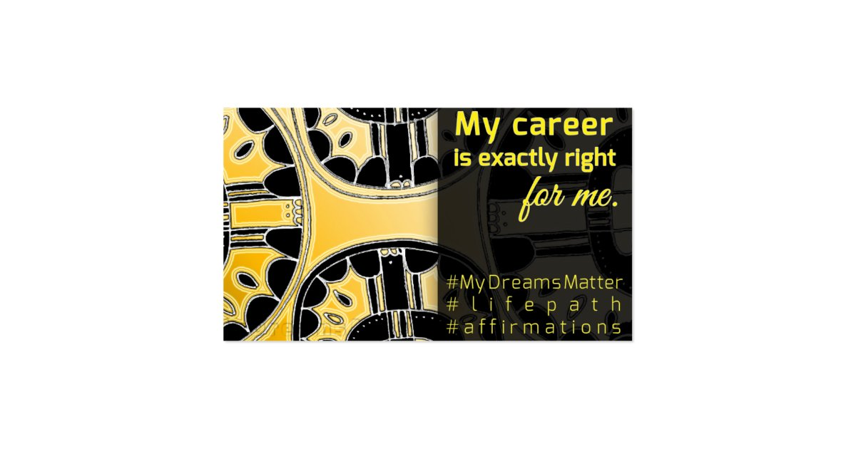 Feng shui success affirmation law of attraction business for Feng shui business cards