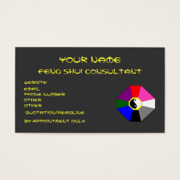 Feng shui consultant business cards templates zazzle feng shui version 1 business card template colourmoves