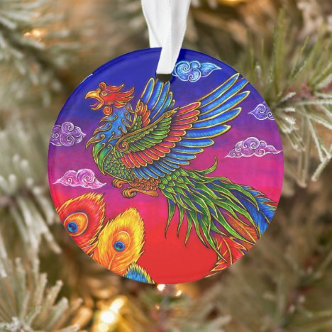 Fenghuang Chinese Phoenix Bird Acrylic Ornament
