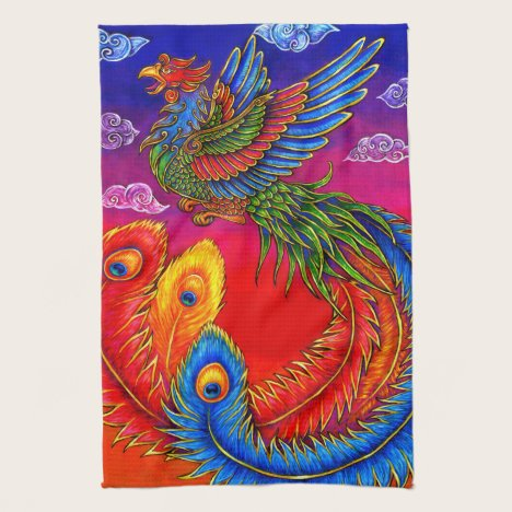 Fenghuang Chinese Phoenix Bird Kitchen Towels