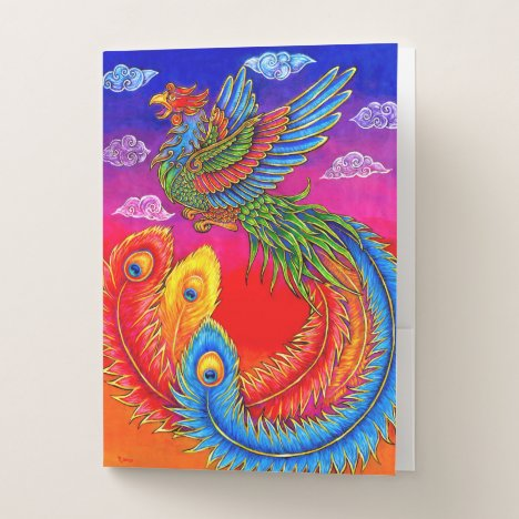 Fenghuang Chinese Phoenix Rainbow Bird Folders