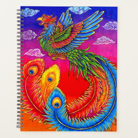 Fenghuang Chinese Phoenix Rainbow Bird Planner