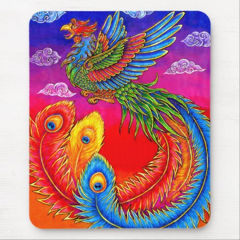 Fenghuang Chinese Phoenix Vertical Mouse pad