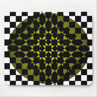 Fengshui - Designer New Olive Black & White Mouse Pad