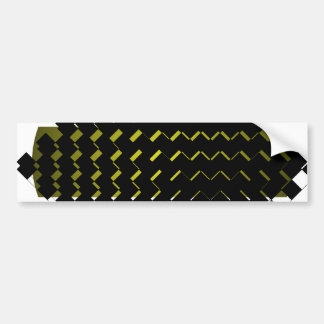 FengShui Fusion Army Green Black Geometric Hipster Bumper Sticker