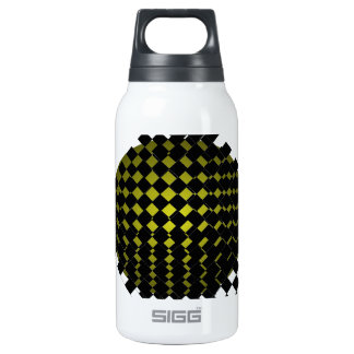 FengShui Fusion Army Green Black Geometric Hipster Insulated Water Bottle