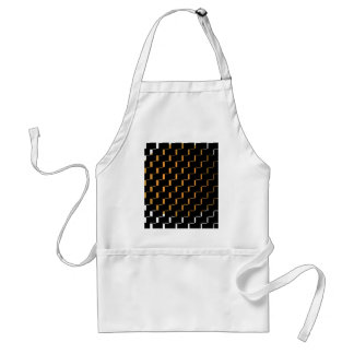 FengShui Fusion Gold Black Geometric Hipster 2 Aprons