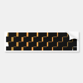 FengShui Fusion Gold Black Geometric Hipster 2 Bumper Sticker