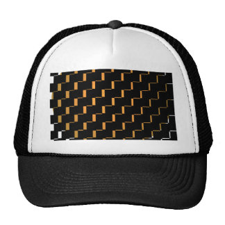 FengShui Fusion Gold Black Geometric Hipster 2 Hats