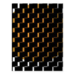 FengShui Fusion Gold Black Geometric Hipster 2 Postcards