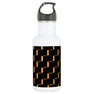 FengShui Fusion Gold Black Geometric Hipster 2 Water Bottle