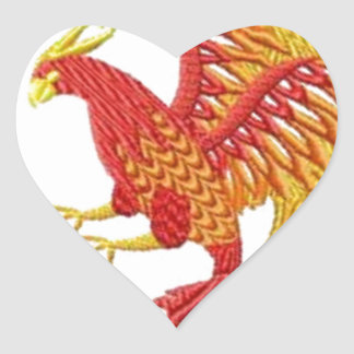 fenix pegatina en forma de corazón