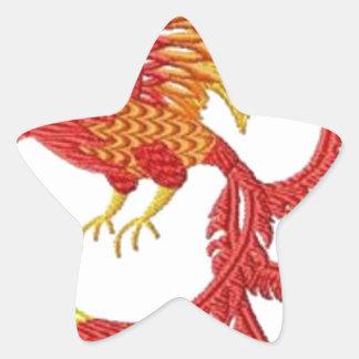 fenix pegatina en forma de estrella