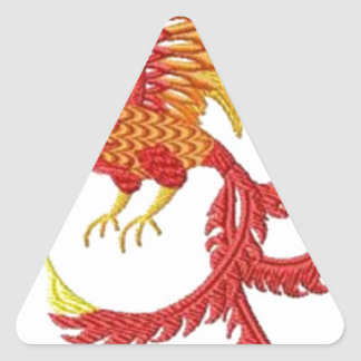 fenix pegatina triangular