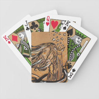 Fennec Fox and Star Girl Bicycle Playing Cards