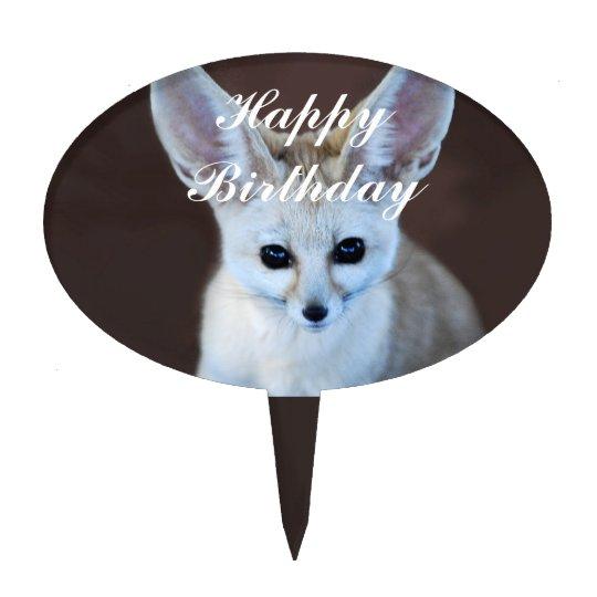 Fennec Fox happy birthday Cake Topper