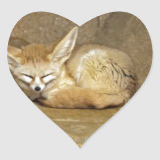 fennec fox heart sticker
