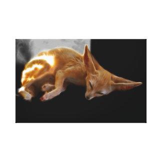 Fennec Fox in dreamland Canvas Print