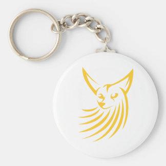 Fennec Fox in Swish Drawing Style Keychain