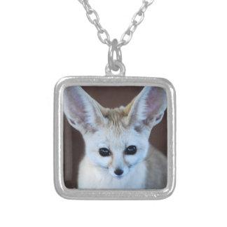 Fennec Fox Square Pendant Necklace