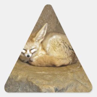 fennec fox triangle sticker