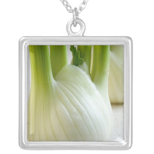 Fennel bulbs For use in USA only.) Silver Plated Necklace