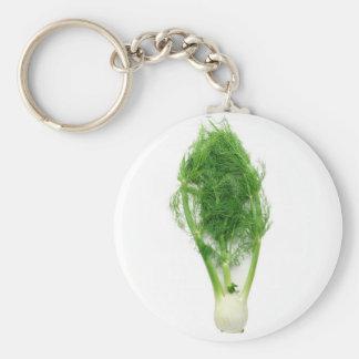 Fennel leaf and bulb keychain