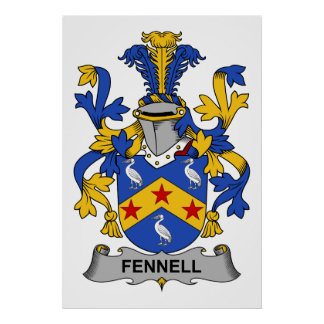 Fennell Family Crest Poster