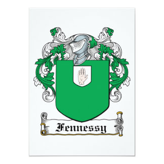 """Fennessy Family Crest 5"""" X 7"""" Invitation Card"""