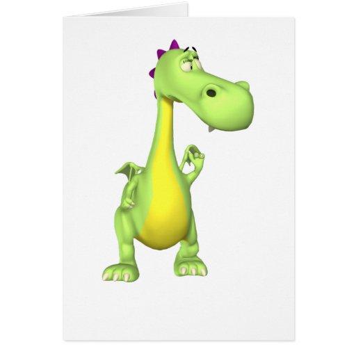 Fenómeno el dragón tarjeta de felicitación