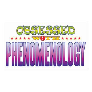 Fenomenología 2 obsesionada tarjetas de visita