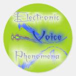 Fenómenos electrónicos de la voz pegatina redonda