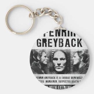 Fenrir Greyback Wanted Poster Basic Round Button Keychain