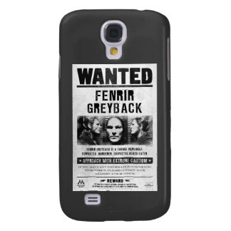 Fenrir Greyback Wanted Poster Samsung Galaxy S4 Cases