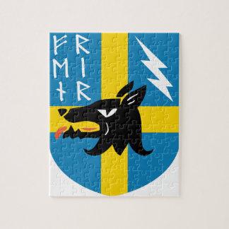 Fenrir Runes Crest Jigsaw Puzzle